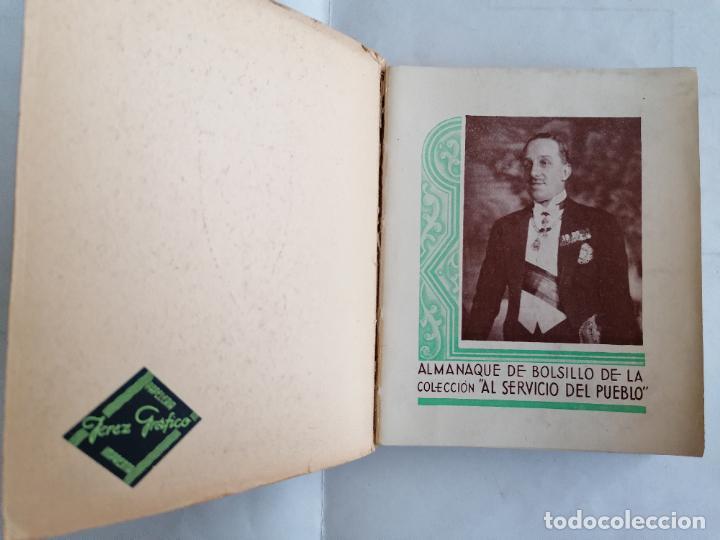 Libros antiguos: ALMANAQUE MONARQUICO DE BOLSILLO 1936, COLECCION AL SERVICIO DEL PUEBLO, 2ª EDICION - Foto 2 - 206160912