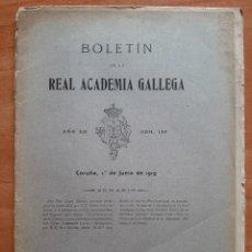 Libros antiguos: 1919 BOLETÍN DE LA REAL ACADEMIA GALLEGA. Lote 48679697
