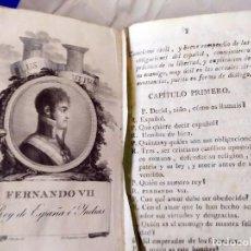 Libros antiguos: AÑO 1808:CATECISMO CIVIL DE ESPAÑA. RARÍSIMO. LEER REFERENCIAS.. Lote 208068012