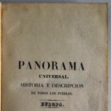 Livres anciens: PANORAMA UNIVERSAL. HISTORIA DE ESPAÑA. DESDE LOS TIEMPOS MÁS REMOTOS HASTA EL AÑO 1840 INCLUSIVE.... Lote 208218556