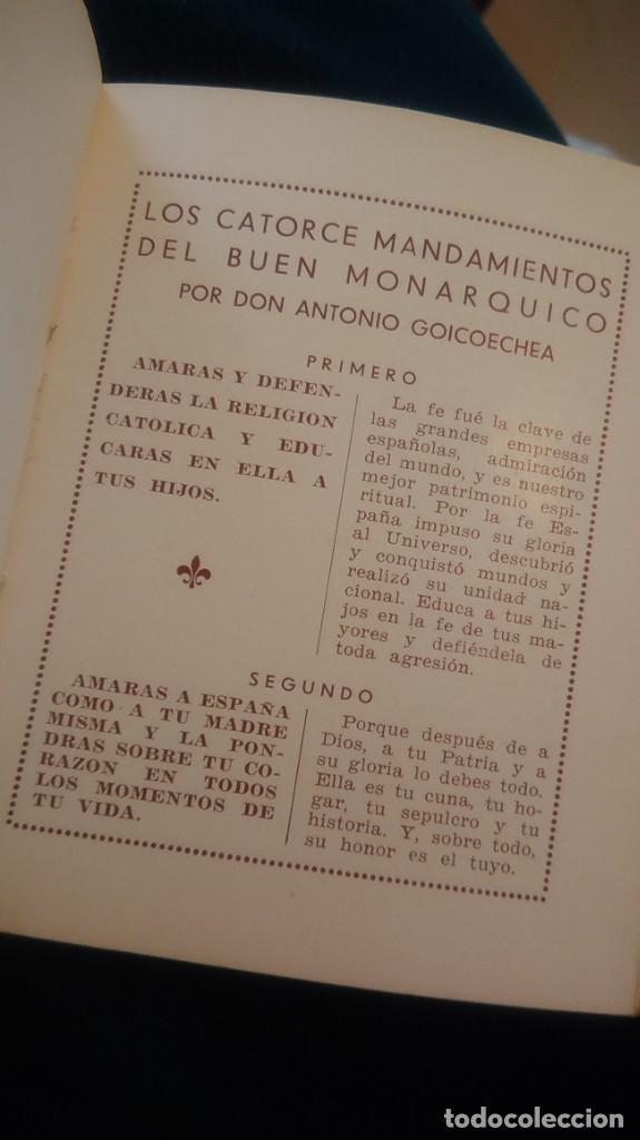 Libros antiguos: LIBRITO ´MCMXXXVI´ ALMANAQUE MONÁRQUICO 1936 - Foto 9 - 208835035
