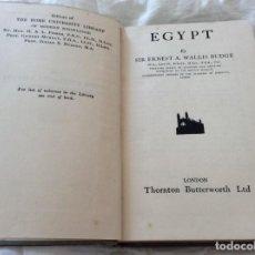 Libri antichi: EGYPT. POR SIR ERNEST A. WALLIS BUDGE, 1934. Lote 209235280