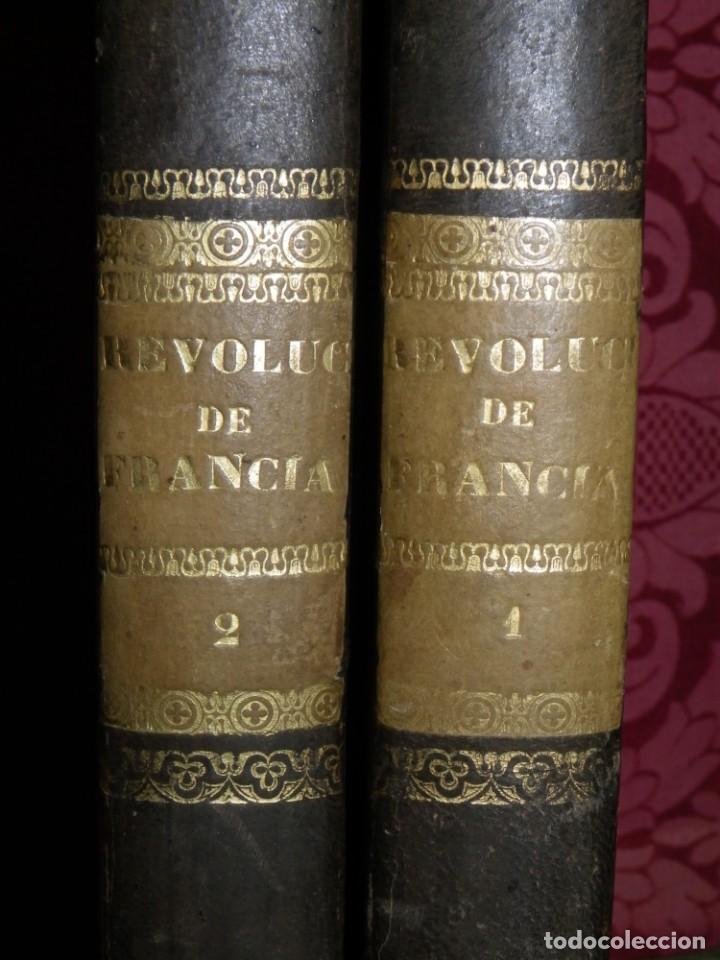 Libros antiguos: Historia de la Revolución de Francia. Mignet,1838 - Foto 3 - 210104505