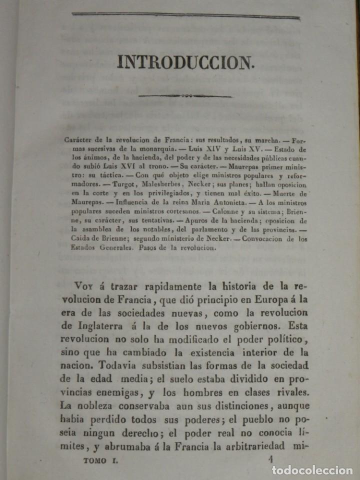 Libros antiguos: Historia de la Revolución de Francia. Mignet,1838 - Foto 10 - 210104505