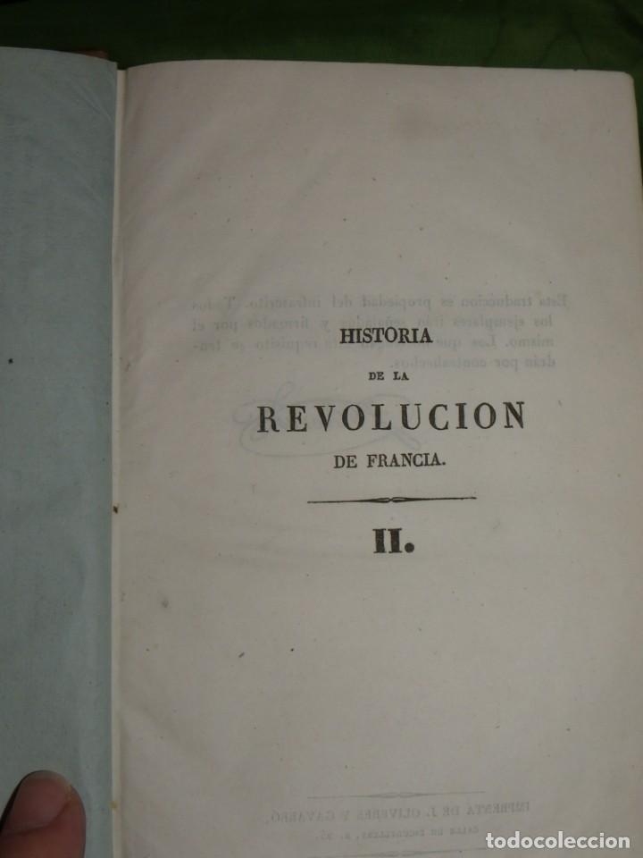 Libros antiguos: Historia de la Revolución de Francia. Mignet,1838 - Foto 24 - 210104505