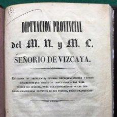 Libros antiguos: COLECCIÓN DE PROCLAMAS... DE LA DIPUTACIÓN DE VIZCAYA. 1839. CARLISTA. Lote 210785812