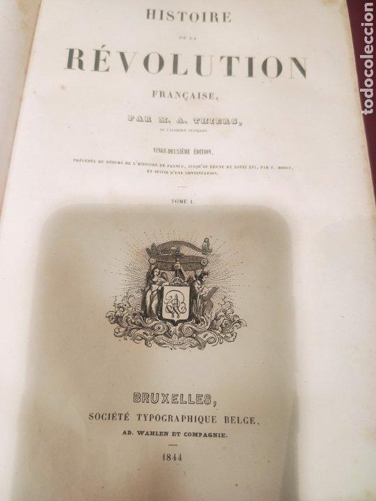 Libros antiguos: La Révolution Française Autor: M.A. Thiers(1844) - Foto 9 - 211729808