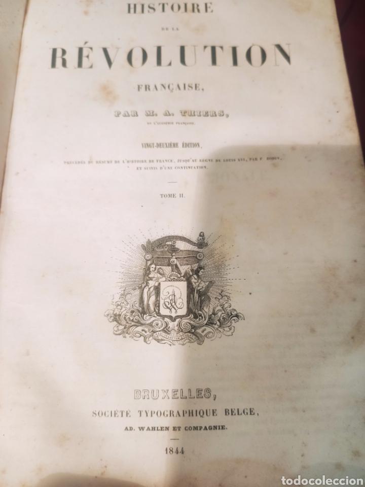 Libros antiguos: La Révolution Française Autor: M.A. Thiers(1844) - Foto 12 - 211729808