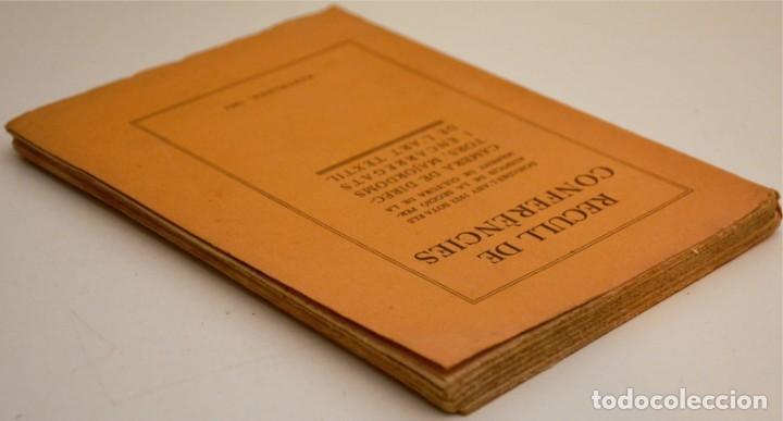 Libros antiguos: RECULL DE CONFERÈNCIES CAMBRA DE DIRECTORS, MAJORDOMS I ENCARREGATS DE L'ART TÈXTIL - Foto 4 - 212590898