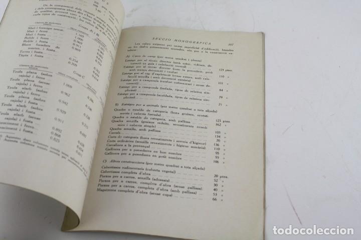 Libros antiguos: Determinació abreujada del cost de les construccions rurals, 1935, Joan Bergós Massó, Barcelona. - Foto 3 - 213230010