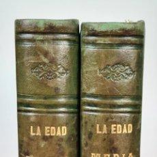 Libros antiguos: LA EDAD MEDIA. HISTORIA GENERAL. VVAA. IMP. JOAQUIN VERDAGUER. 4 TOMOS. 1846.. Lote 213848291
