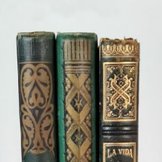 Libros antiguos: EDITORIAL MONTANER Y SIMON. 3 TITULOS. VER DESCRIPCION. 1882-1886.. Lote 214095752