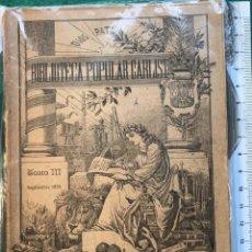 Libros antiguos: BIBLIOTECA POPULAR CARLISTA, III. 1895. Lote 215761582