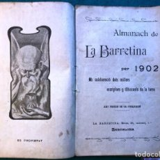 Libros antiguos: ALMANACH DE LA BARRETINA PER 1902. CATALÁN. Lote 215761956