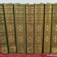 Libros antiguos: HISTORIA DE ESPAÑA. ANTONIO BALLESTEROS. EDIT. SALVAT. 7 VOL. 1918/1932. Lote 217084842
