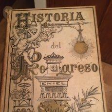 Libros antiguos: HISTORIA DEL PROGRESO EN EL SIGLO XIX - F. SANTANDER (2 TOMOS). Lote 217716880