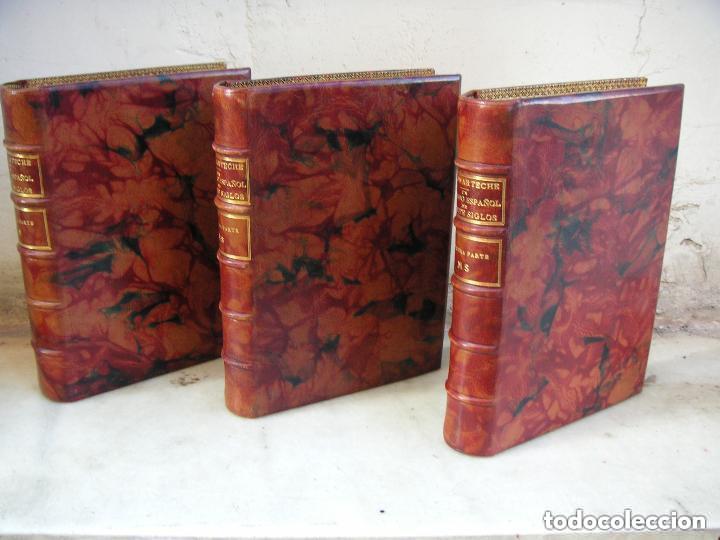 Libros antiguos: Gómez de Arteche J. Manuscrito ,original en tres volúmenes ,Un soldado Español de veinte siglos,1874 - Foto 2 - 217837073