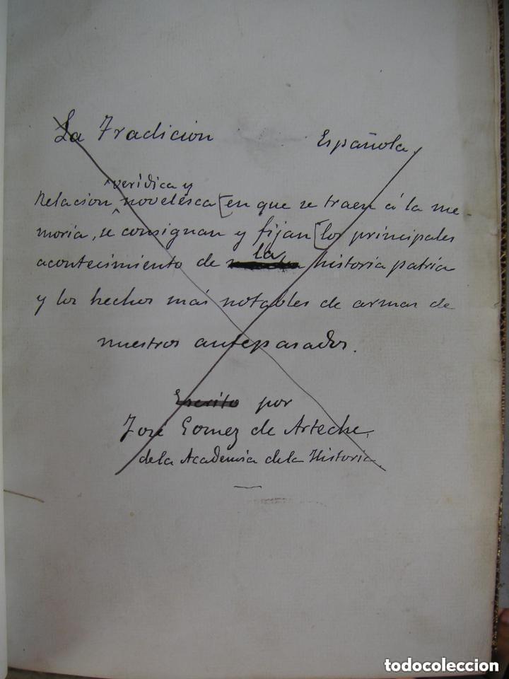 Libros antiguos: Gómez de Arteche J. Manuscrito ,original en tres volúmenes ,Un soldado Español de veinte siglos,1874 - Foto 3 - 217837073