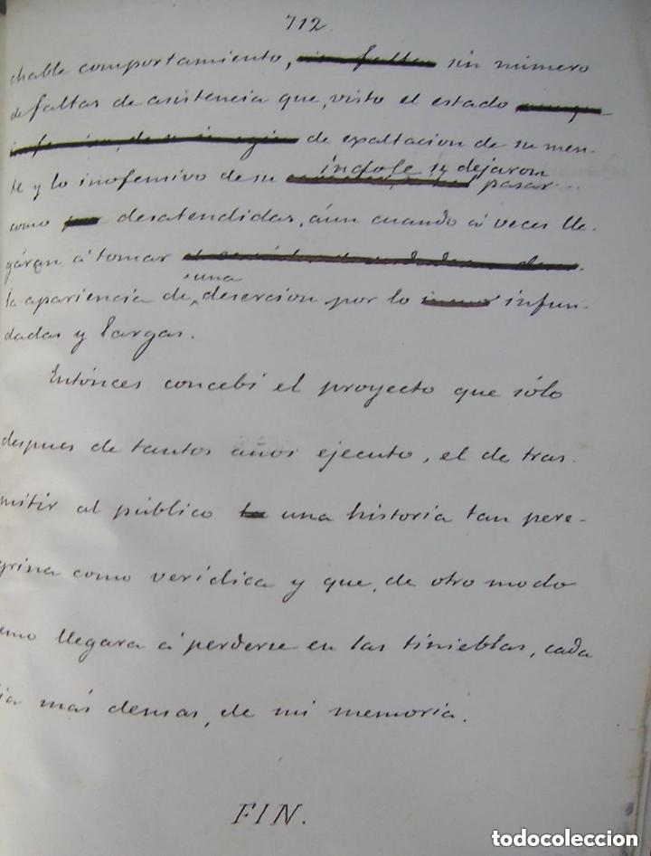 Libros antiguos: Gómez de Arteche J. Manuscrito ,original en tres volúmenes ,Un soldado Español de veinte siglos,1874 - Foto 5 - 217837073