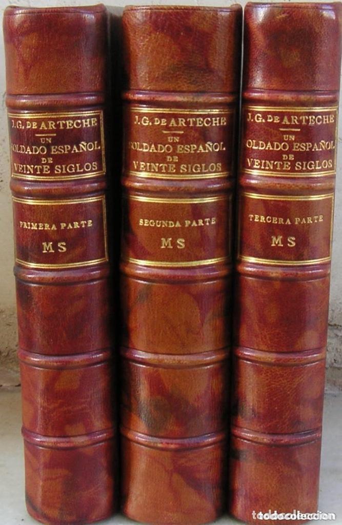 GÓMEZ DE ARTECHE J. MANUSCRITO ,ORIGINAL EN TRES VOLÚMENES ,UN SOLDADO ESPAÑOL DE VEINTE SIGLOS,1874 (Libros antiguos (hasta 1936), raros y curiosos - Historia Moderna)