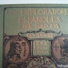 """Libros antiguos: LIBRO """"LOS EXPLORADORES ESPAÑOLES DEL SIGLO XVI"""", DE CHARLES F. LUMMIS. Lote 220397007"""