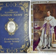 Libros antiguos: CORONACIÓN DEL REY JORGE VI. GRAN VOLUMEN IN FOLIO: 36 CM. MUY ANTIGUO.. Lote 221497287