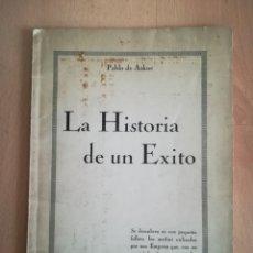 Libros antiguos: LA HISTORIA DE UN ÉXITO. PABLO DE AZKUE. PERIÓDICO EUZKADI.. Lote 221564300