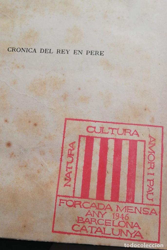 Libros antiguos: CRONICA DEL REY EN PERE. Con exlibris de Alexandre de Riquer 1909. - Foto 3 - 222002275