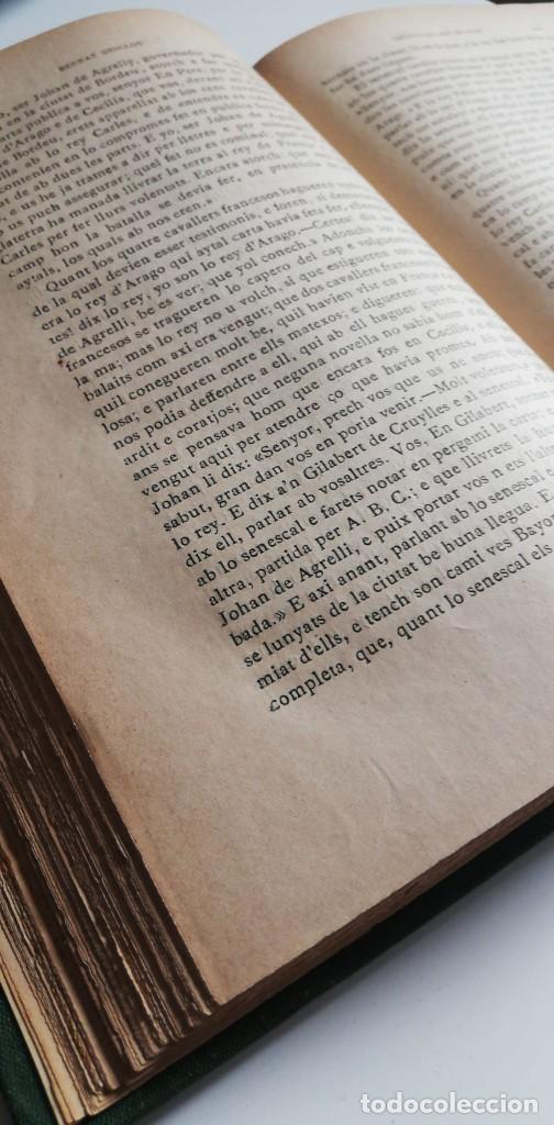 Libros antiguos: CRONICA DEL REY EN PERE. Con exlibris de Alexandre de Riquer 1909. - Foto 6 - 222002275