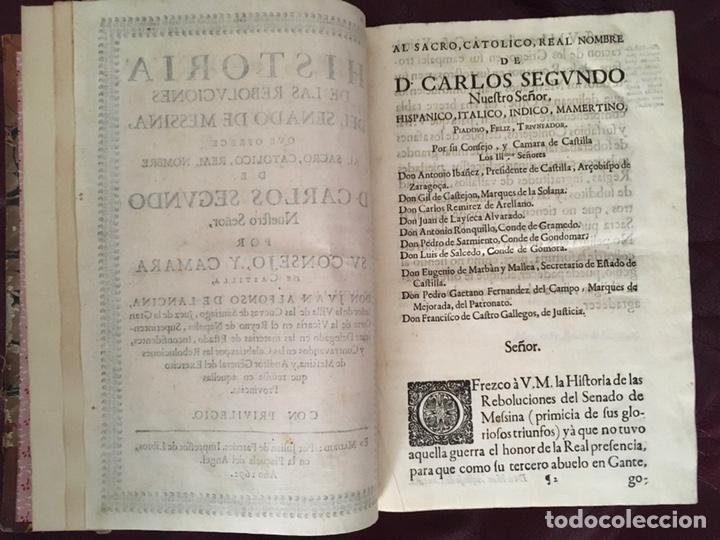 Libros antiguos: Historia de las rebolvciOnes del senado de messina Don Juan Alfonso de Lancina - Foto 6 - 224032905