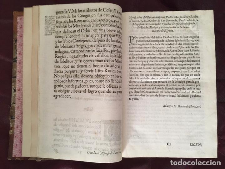 Libros antiguos: Historia de las rebolvciOnes del senado de messina Don Juan Alfonso de Lancina - Foto 7 - 224032905