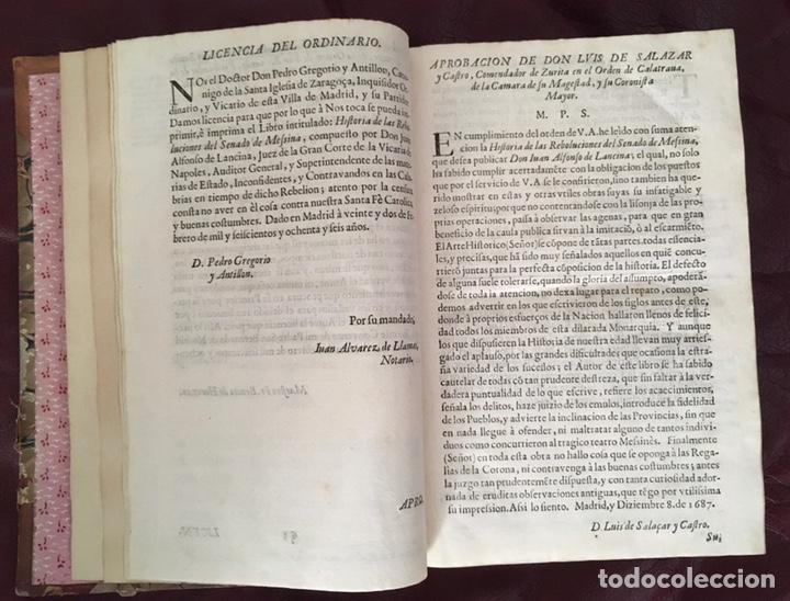 Libros antiguos: Historia de las rebolvciOnes del senado de messina Don Juan Alfonso de Lancina - Foto 8 - 224032905