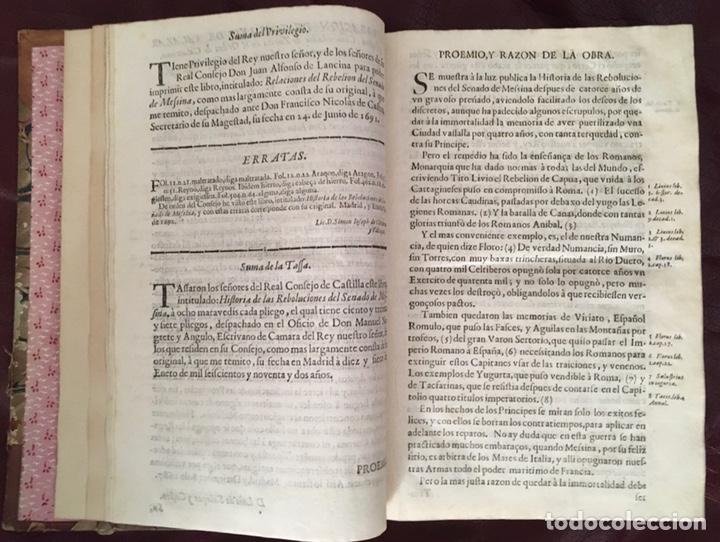 Libros antiguos: Historia de las rebolvciOnes del senado de messina Don Juan Alfonso de Lancina - Foto 10 - 224032905