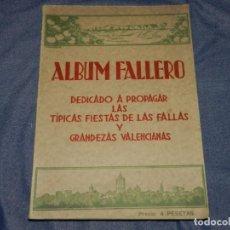 Libros antiguos: MF) ALBUM FALLERO DEDICADO A PROPAGAR LAS TÍPICAS FIESTAS DE LAS FALLAS Y GRANDEZAS VALENCIANAS 1933. Lote 224172467