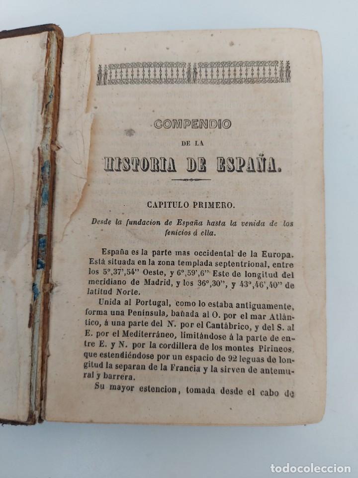 ANTIGUO LIBRO - COMPENDIO DE LA HISTORIA DE ESPAÑA - HASTA CARLOS III - 408 PAGINAS - AL FALTAR LA P (Libros antiguos (hasta 1936), raros y curiosos - Historia Moderna)