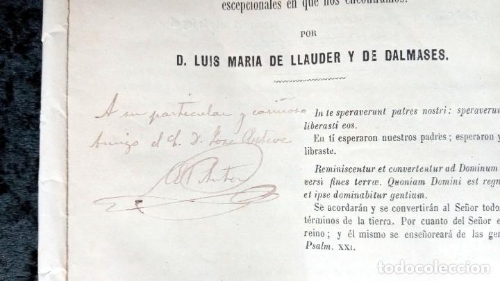 Libros antiguos: EL DESENLACE DE LA REVOLUCIÓN ESPAÑOLA - LUIS MARIA DE LLAUDER Y DE DALMASES - 1869 - FIRMA AUTOR - Foto 2 - 224565040