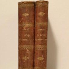 Libros antiguos: ESPAÑA CONTEMPORÁNEA FERNANDO GARRIDO 1865 CON EL MAPA DE ESPAÑA Y PORTUGAL. Lote 225874482