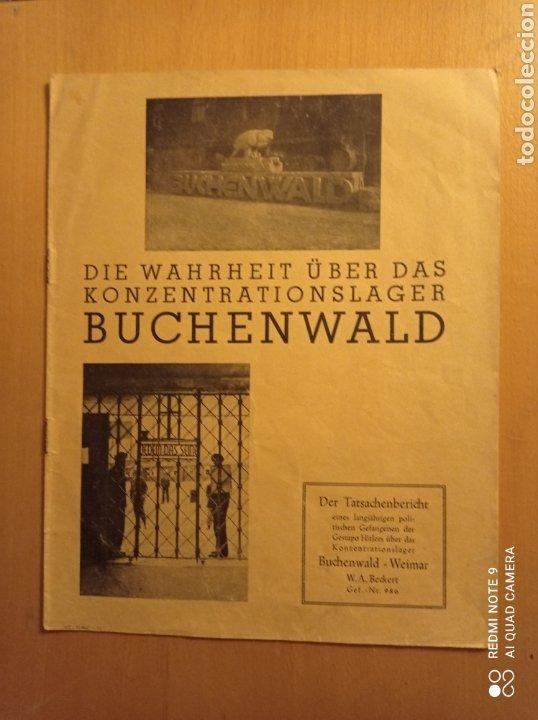 BUCHENWALD CAMPO CONCENTRACIÓN ALEMANIA NAZI TERCER REICH HOLOCAUSTO (Libros antiguos (hasta 1936), raros y curiosos - Historia Moderna)