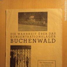 Libros antiguos: BUCHENWALD CAMPO CONCENTRACIÓN ALEMANIA NAZI TERCER REICH HOLOCAUSTO. Lote 226623425