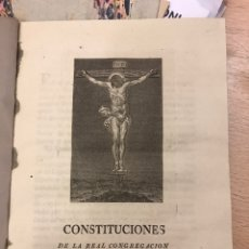 Libros antiguos: CONSTITUCIONES DE LA REAL CONGREGACIÓN DE SAN GINÉS... MADRID. Lote 228719308