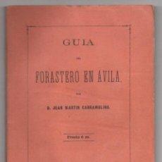Libri antichi: GUIA DEL FORASTERO EN AVILA POR JUAN MARTIN CARRAMOLINO. AÑO 1872. Lote 230517970