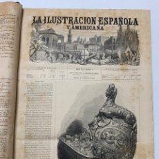 Libri antichi: OBRA MAGNA LA ILUSTRACIÓN ESPAÑOLA Y AMERICANA AÑO 1876 COMPLETO.. Lote 233500560