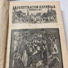 Libri antichi: OBRA MAGNA LA ILUSTRACIÓN ESPAÑOLA Y AMERICANA AÑO 1882.COMPLETO.. Lote 233505505