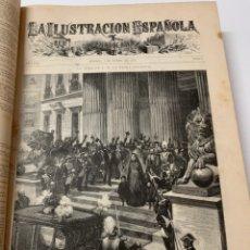 Libri antichi: OBRA MAGNA LA ILUSTRACIÓN ESPAÑOLA Y AMERICANA AÑO 1886.COMPLETO.. Lote 233508940