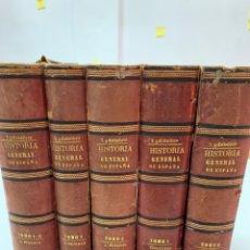 Libros antiguos: HISTORIA GENERAL DE ESPAÑA Y SUS POSESIONES DE ULTRAMAR POR P.E.ZAMORA Y CABALLERO. TOMOS 1 AL 6.. Lote 235057575