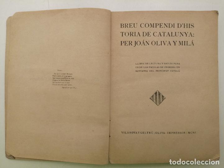 Libros antiguos: HISTORIA CATALUNYA, JOAN OLIVA Y MILA 1901, (VILANOVA Y GELTRU) - Foto 2 - 235314360