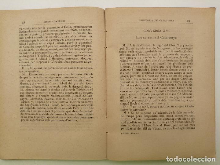 Libros antiguos: HISTORIA CATALUNYA, JOAN OLIVA Y MILA 1901, (VILANOVA Y GELTRU) - Foto 6 - 235314360