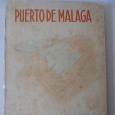 Libros antiguos: LIBRO PUERTO DE MALAGA,OBRA Y PROYECTO DELA CONSTRUCCION, DEL MISMO 1944. Lote 240215170