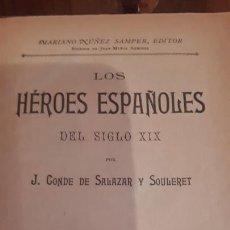 Libros antiguos: LOS HÉROES ESPAÑOLES. TOMO 3. DEL CONDE DE SALAZAR. SIGLO XIX. Lote 240900695