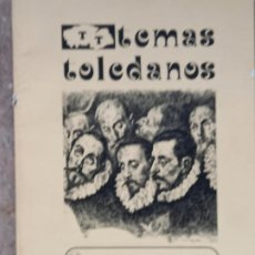 Libros antiguos: EL GRECO,SU EPOCA Y SU OBRA - TEMAS TOLEDANOS - NUM. 18 - IPIET.. Lote 241301920